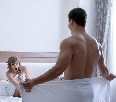 Femme séduite par l'engin de son amant